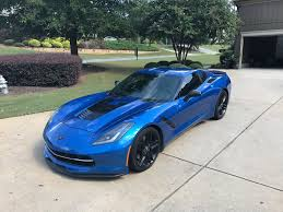 corvette forum c7 for sale fs for sale 2014 c7 z51 laguna blue w mods corvetteforum