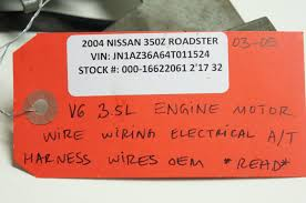 nissan 350z lower engine cover used 2003 nissan 350z engines u0026 components for sale
