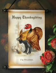 master snood i m stuffed thanksgiving scroll