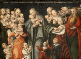 christ blessing the children lucas cranach the younger and