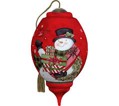 5 50 your friendship is a gift snowman ornament by ne qwa qvc