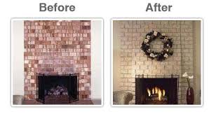 Paint Tile Fireplace by Painting Brick Fireplace Before And After Fireplace Decorating