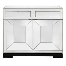 Mirrored Bar Cabinet Silver Frame Mirrored Panels Bar Cabinet