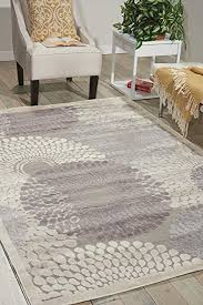 Nourison Kitchen Rugs Nourison Graphic Illusions Gil04 Grey Rectangle Area