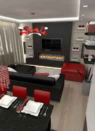 Red And Black Living Room Home Design 81 Amazing Small Apartment Dining Tables