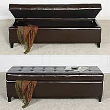 Leather Ottoman Bench Mission Brown Tufted Leather Ottoman Bench Combines Storage