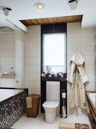 modern small bathroom design with drop in tub and recessed and