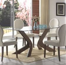 Attractive Rectangle Glass Dining Table With Glass Top Dining Room Glass Top Dining Room Tables Rectangular