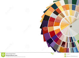 color palette guide for color matching on a white background is