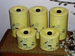 100 yellow kitchen canisters retro kitchen storage winda 7