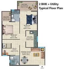 conscient habitat sector 78 faridabad 2 and 2 bhk utility