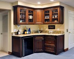 Wet Bar Makeover Corner Wet Bar Houzz