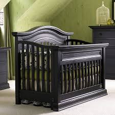 Convertible Crib And Dresser Set Bonavita Sheffield 2 Nursery Set In Distressed Black Crib