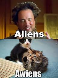 Cat Alien Meme - aliens cat by nikkimenz meme center