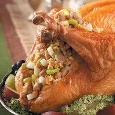 stuffed turkeys pear for turkey recipe taste of home
