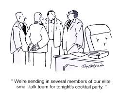 cocktail party cartoon business skills 10 tips on how to master the art of small talk in