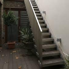 outdoor staircase design exterior design narrow outside metal stair design how to build