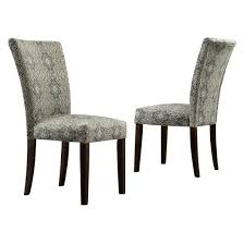 damask chair quinby parson damask dining chair wood blue set of 2 inspire q