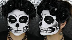Black And White Detailed Skull Halloween Makeup Tutorial