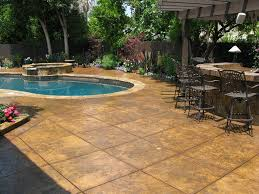 Painting A Cement Patio by Colored Concrete Pool Deck Ideas Pool Design Ideas