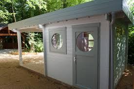 cabane jardin pvc abris jardin toit plat moderne chalets bois qualité sur mesure