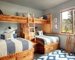 western rustic bedroom furniture varnished log wood king size bed