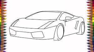 lamborghini sketch simple drawing of a car how to draw a car lamborghini gallardo