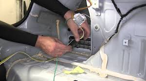 installation of a trailer wiring harness on a 2012 chevrolet cruze