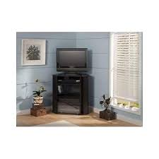 tv stand glass door corner entertainment unit tall black tv stand storage console