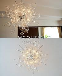Ball Chandelier Lights Clear Glass Bubble Pendant Lights Light Shade Hanging Ball