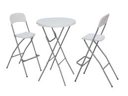 standing height folding table incredible tall folding table and chair bistro set bar height with