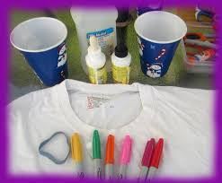 easymeworld how to make a tie dye t shirt with sharpie markers