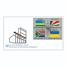 Picture Of Un Flag 2018 Flag Series U2013 Fdc Combo Sheet 55 Un Stamps