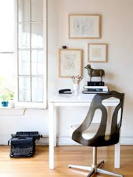 elegant home office design for small space with black lacquered