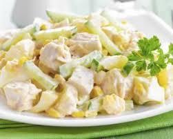 recette cuisine dietetique recette de salade diététique au poulet ananas et pomme