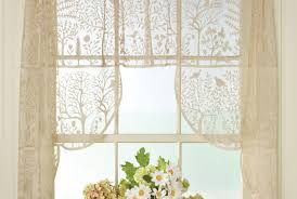 important design of unusual cream lined curtains bright valance