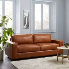 West Elm Henry Leather Sofa West Elm Leather Sectional Safetylightapp