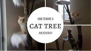 how to make a modern cat tree youtube