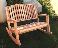 Garden Rocking Bench Creative Of Rocking Garden Bench Redwood Rocker Throughout Outdoor