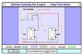 wiring diagram wiring a bathroom fan and light switches