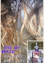 over the counter purple hair toner amazon com kiss my brass shoo additive anti brassy hair