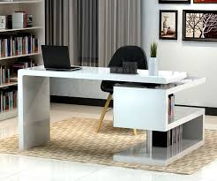 Modern Home Office Ideas by Stunning Modern Home Office Desks With Unique White Glossy Desk