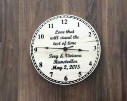 personalized picture clocks personalized clock etsy
