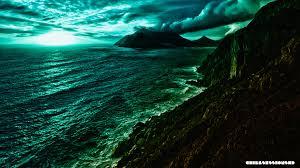 mountains futuristic world chill beach sea colours mountains