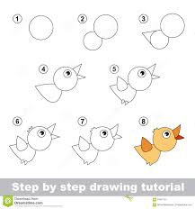 drawing tutorial how to draw a bird stock vector image 65467151