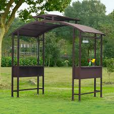 Gazebo With Awning Outdoor Sunshade Awning Gazebo Grill Canopy Gazebo Lowes