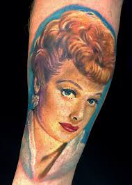 lucy ball lucille ball of i love lucy portrait tattoo by pony lawson