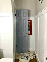 another door goes black and how to do it from thrifty decor