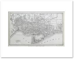 Map Of Toronto Canada by Toronto 1921 Vintage Maps