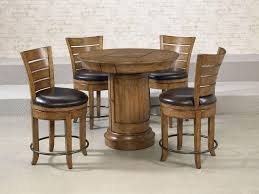 round table with chairs that fit underneath furniture add flexibility to your dining options using pub table